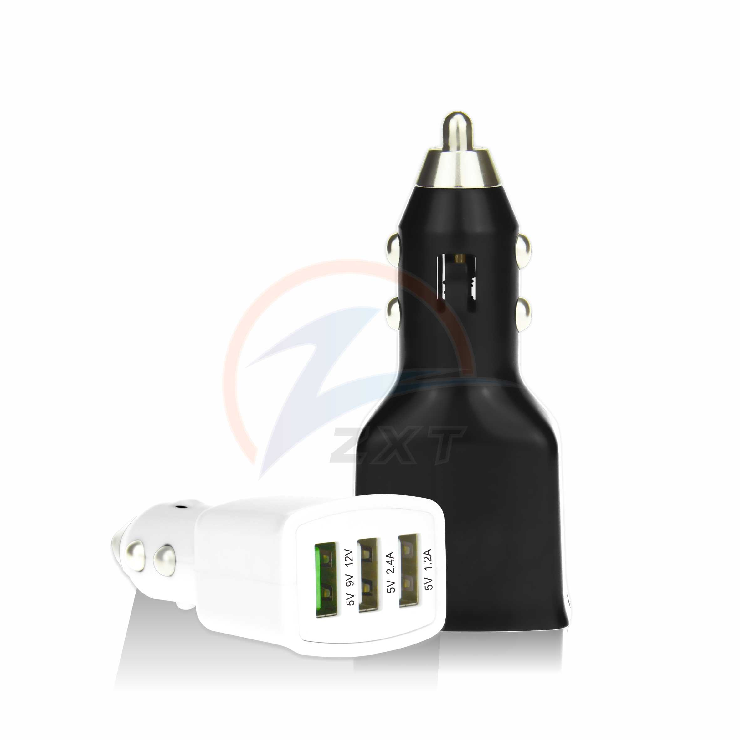 3USB Car Charger ( Fast Port + 2 Normal Ports)